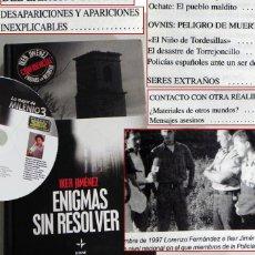 Libros de segunda mano: ENIGMAS SIN RESOLVER 1 IKER JIMÉNEZ LIBRO +CD MISTERIO UFOLOGÍA CASOS OVNIS LAS HURDES EJÉRCITO EDAF. Lote 50884939