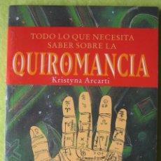 Libros de segunda mano: QUIROMANCIA _ KRISTYNA ARCARTI. Lote 56937192