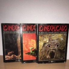 Libros de segunda mano: LO INEXPLICADO- 3 TOMOS- 1982 - EDITORIAL DELTA. Lote 83563343