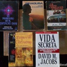 Libros de segunda mano: LOTE DE 5 LIBROS DE UFOLOGÍA-DIFÍCILES DE CONSEGUIR - ENIGMAS -OVNIS - EXTRATERRESTRES - CONTACTADOS. Lote 94466226