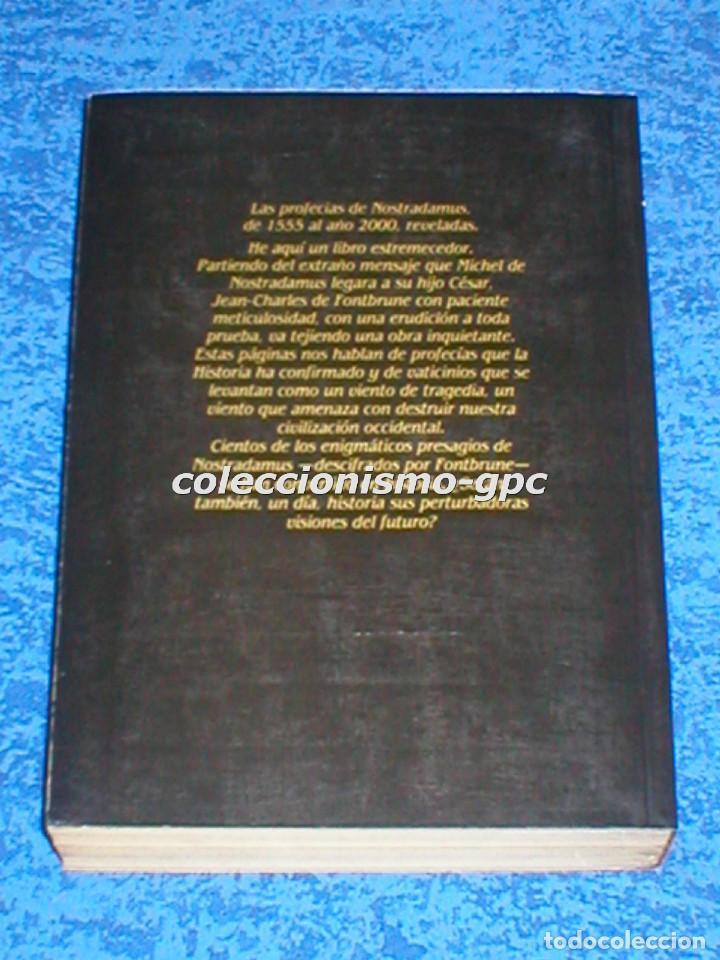 Libros de segunda mano: Libro NOSTRADAMUS de JEAN-CHARLES DE FONTBRUNE 8ª Edición1982 Profecías Editorial Barcanova Mira !!! - Foto 2 - 94668975