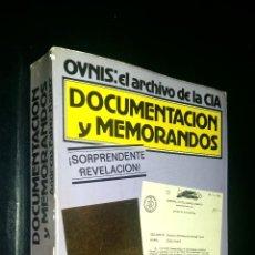 Libros de segunda mano: OVNIS EL ARCHIVO DE LA CIA / DOCUMENTACION Y MEMORANDOS / ANDREAS FABER-KAISER. Lote 94683147