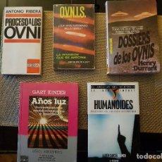 Libros de segunda mano: LOTE DE 5 LIBROS DE UFOLOGÍA - DIFÍCILES DE CONSEGUIR - OVNIS - EXTRATERRESTRES - CONTACTADOS. Lote 95023595