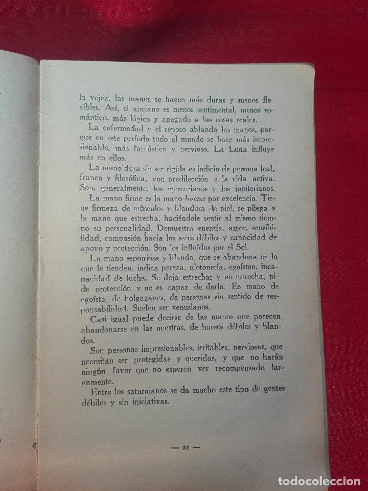 Libros de segunda mano: EL MAPA DEL DESTINO EN LA PALMA DE LA MANO - M. AGUILAR - MADRID - 1936 - 18 X 12 CM - 182 PP. - - Foto 4 - 97660831