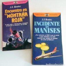 Libros de segunda mano: LIBROS DE JJ BENÍTEZ INCIDENTE EN MANISES ENCUENTRO MONTAÑA ROJA UFOLOGÍA OVNIS MISTERIO OVNI LIBRO. Lote 100471283