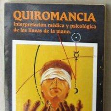 Libros de segunda mano: QUIROMANCIA - INTERPRETACIÓN MÉDICA Y PSICOLÓGICA DE LAS LÍNEAS DE LA MANO - KLAUS BERGMAN - VER. Lote 102694459