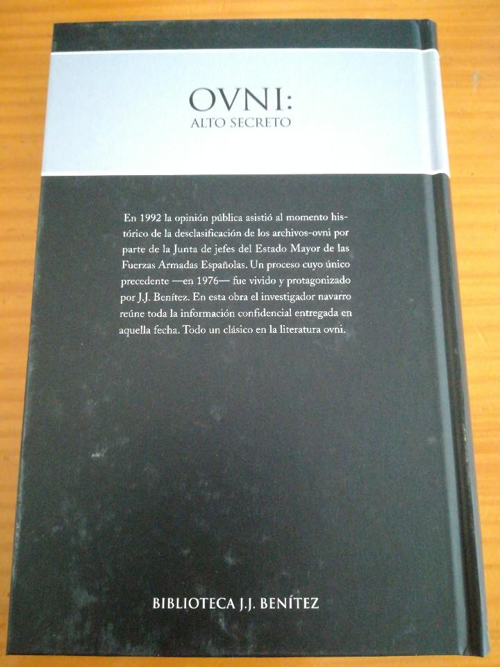 Libros de segunda mano: Libro ovni alto secreto de j.j benitez - Foto 2 - 112984163