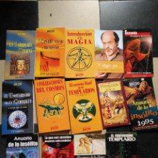 Libros de segunda mano: LOTE LIBROS MAGIA COSMOS TEMPLARIOS INSOLITO MAS ALLA GIMENEZ DEL OSO AÑO CERO YOGA ESOTERISMO .... Lote 113148627