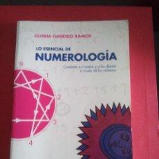 Libros de segunda mano: LO ESENCIAL DE NUMEROLOGÍA - GLORIA GARRIDO RAMOS - . Lote 113184899