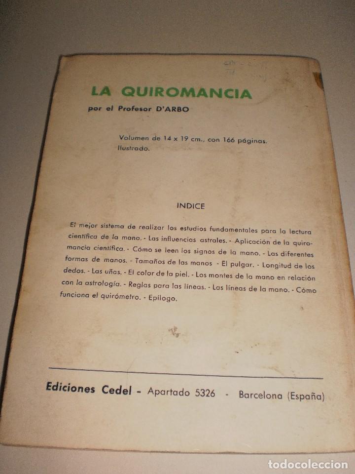 Libros de segunda mano: profesor darbo. el quiro-diagnóstico. edicones cedel 1976. 142 páginas. - Foto 2 - 113212251