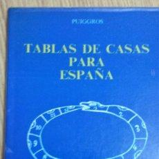 Libros de segunda mano: TABLAS DE CASAS PARA ESPAÑA * PERE PUIGGROS ACON, AUTOR-EDITOR. Lote 115049043