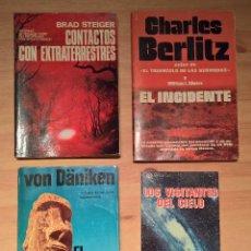 Libros de segunda mano: LOS VISITANTES DEL CIELO, EUGENIO DANYANS Y TRES LIBROS MÁS SOBRE EXTRATERRESTES. Lote 115143559