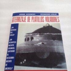 Libros de segunda mano: ATERRIZAJE DE PLATILLOS VOLADORES GEORGE ADAMSKI 1955 UFOLOGIA OVNIS ULTRA RARO. Lote 191221468