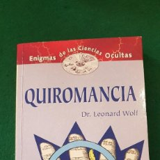 Libros de segunda mano: QUIROMANCIA - DR. LEONARD WOLF. Lote 124091331