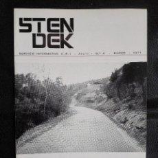 Libros de segunda mano: REVISTA STENDEK Nº 4 CENTRO DE ESTUDIOS INTERPLANETARIOS MARZO 1971 OVNI UFOLOGÍA. Lote 124470339
