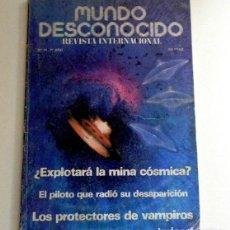 Libros de segunda mano: REVISTA MUNDO DESCONOCIDO 74 PROTECTORES DE VAMPIROS UFOLOGÍA MISTERIO OVNI CANARIAS OVNIS -NO LIBRO. Lote 125149403