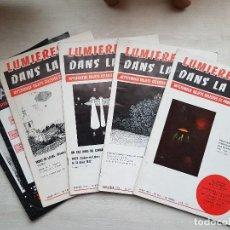 Libros de segunda mano: LOTE DE 6 REVISTAS DE LA MÍTICA REVISTA FRANCESA LUMIERES DANS LA NUIT- UFOLOGÍA-OVNIS-ALIENS. Lote 128046327