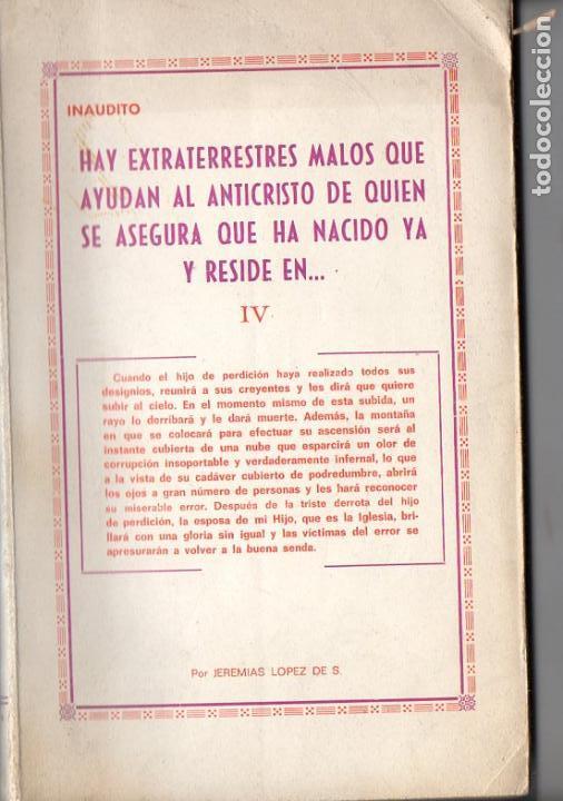 JEREMÍAS LÓPEZ : HAY EXTRATERRESTRES MALOS QUE AYUDAN AL ANTICRISTO (1971) (Libros de Segunda Mano - Parapsicología y Esoterismo - Ufología)