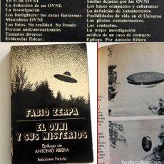Libros de segunda mano: EL OVNI Y SUS MISTERIOS LIBRO FABIO ZERPA EPÍL. DE ANTONIO RIBERA UFOLOGÍA CASOS FOTOS OVNIS HUELLAS. Lote 131442058
