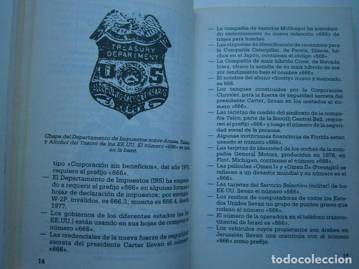 Libros de segunda mano: CUANDO EL DINERO FALLA EL SISTEMA 666 YA ESTA EN ACCION Mary Stewart Relfe 1987 - Foto 13 - 206595507