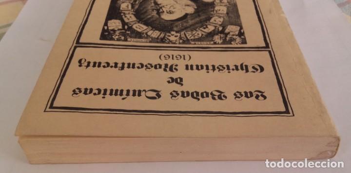 Libros de segunda mano: Las dos Bodas Químicas de Christian Rosenkreutz. Biblioteca Esóterica. 1980. 180 páginas. - Foto 3 - 135319986