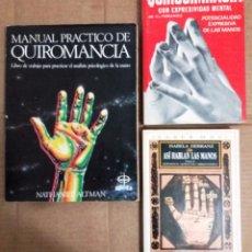 Libros de segunda mano: LOTE 3 LIBROS DE QUIROMANCIA. Lote 138981454