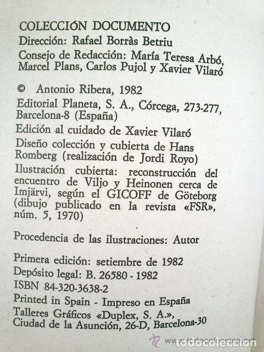 Libros de segunda mano: ENCUENTROS CON HUMANOIDES - ANTONIO RIBERA - ED. PLANETA - 1982 - 1ª EDICIÓN - Foto 3 - 45220206