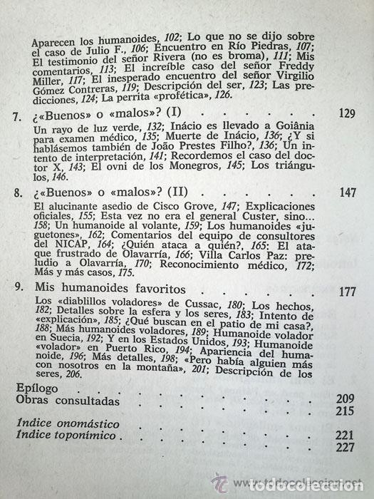 Libros de segunda mano: ENCUENTROS CON HUMANOIDES - ANTONIO RIBERA - ED. PLANETA - 1982 - 1ª EDICIÓN - Foto 5 - 45220206