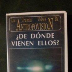 Libros de segunda mano - VHS-LOS GRANDES VIDEOS DE ANTROPOVISION-¿DE DÓNDE VIENEN ELLOS?-FABIO ZERPA-CHARLES BERLITZ - 150777888