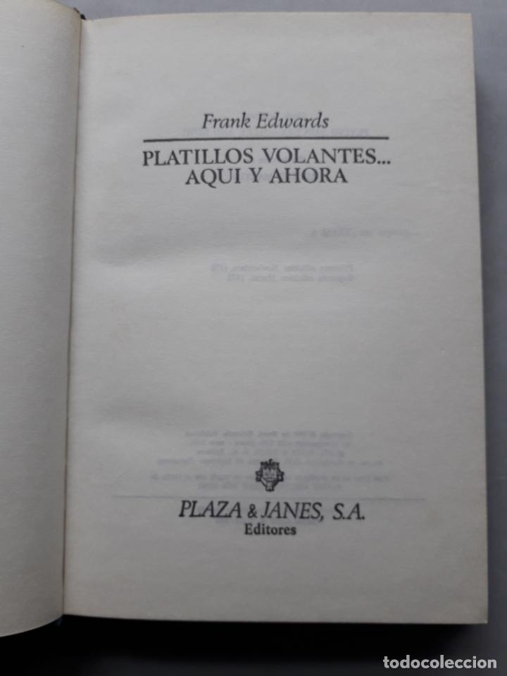 Libros de segunda mano: Platillos Volantes... Aquí y Ahora. Frank Edwards. - Foto 2 - 148291706