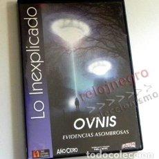 Libros de segunda mano: DVD DOCUMENTAL OVNIS EVIDENCIAS ASOMBROSAS - NO ES LIBRO - LO INEXPLICADO MISTERIO UFOLOGÍA AÑO CERO. Lote 148488290
