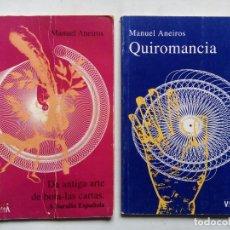 Libros de segunda mano: 2 LIBROS MANUEL ANEIROS. DA ANTIGA ARTE DE BOTA-LAS CARTAS. QUIROMANCIA. EDITORIAL VÍA LÁCTEA. 1999.. Lote 150657642