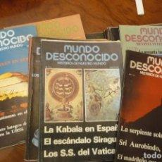 Libros de segunda mano: MUNDO DESCONOCIDO.- 18 NUMEROS AÑO 1978-79.. Lote 154145534