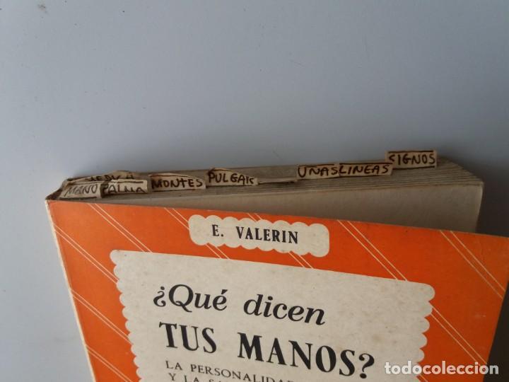 Libros de segunda mano: QUE DICEN TUS MANOS / E. VALERIN (ED. SINTES) - Foto 2 - 155489598