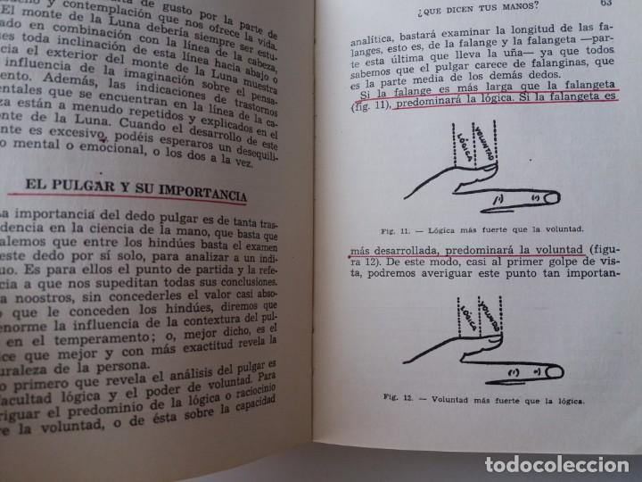 Libros de segunda mano: QUE DICEN TUS MANOS / E. VALERIN (ED. SINTES) - Foto 5 - 155489598