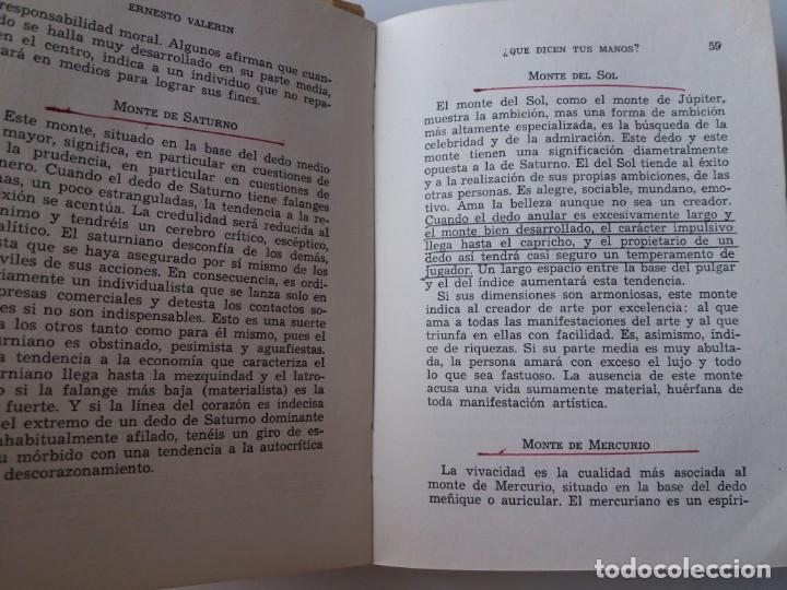 Libros de segunda mano: QUE DICEN TUS MANOS / E. VALERIN (ED. SINTES) - Foto 6 - 155489598
