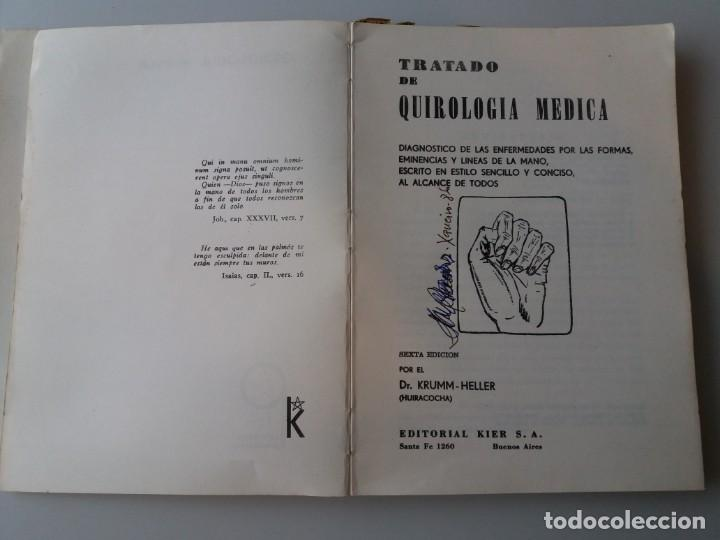 Libros de segunda mano: TRATADO DE QUIROLOGIA MEDICA / DR. KRUMM-HELLER (ED. KIER) - Foto 3 - 155490094