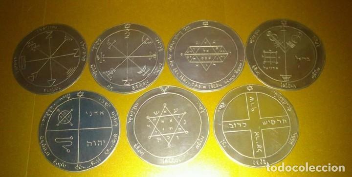 Libros de segunda mano: TODOS LOS PENTÁCULOS JUPITER, talla en metal, 7 talismanes Júpiter, cada uno de 8,5 cm de tamaño - Foto 2 - 160090790