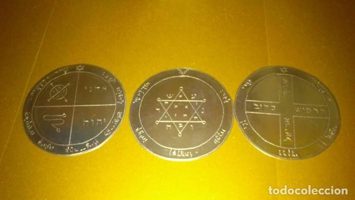 Libros de segunda mano: TODOS LOS PENTÁCULOS JUPITER, talla en metal, 7 talismanes Júpiter, cada uno de 8,5 cm de tamaño - Foto 3 - 160090790