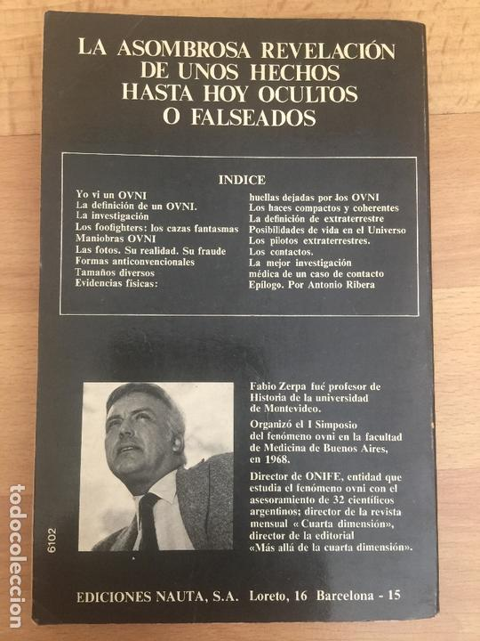 Libros de segunda mano: EL OVNI Y SUS MISTERIOS - FABIO ZERPA - EPILOGO DE ANTONIO RIBERA - NAUTA - ILUSTRADO - MUY ESCASO - Foto 2 - 164070146