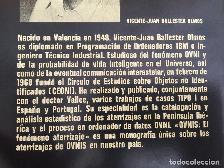 Libros de segunda mano: OVNIS: EL FENOMENO ATERRIZAJE - V. J. BALLESTEROS OLMOS - TAPA DURA, SOBRECUBIERTA - PLAZA &JANES - Foto 2 - 166763530