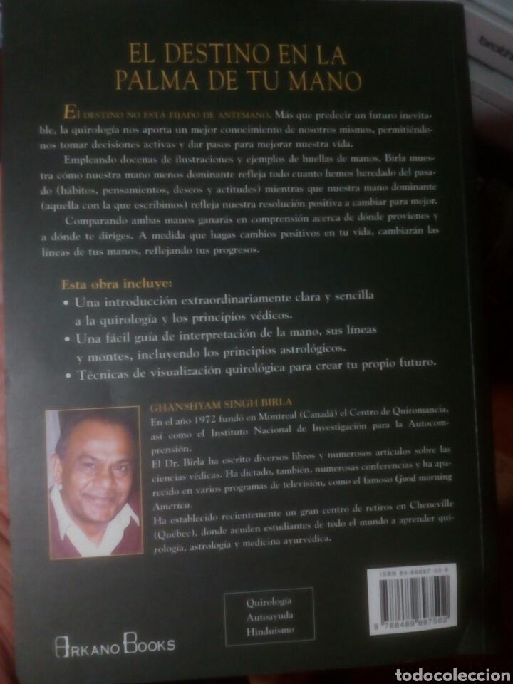 Libros de segunda mano: El destino en la palma de tu mano Ghanshyam Singh Birla,quiromancia,tarot - Foto 2 - 169908804