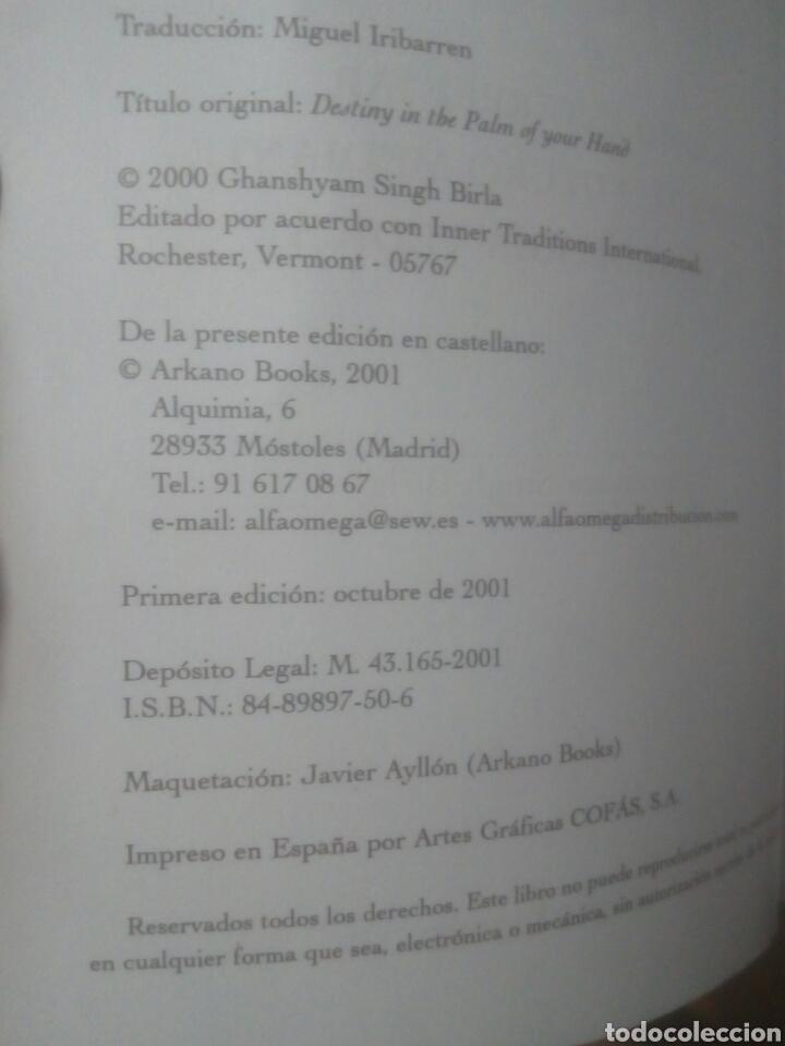Libros de segunda mano: El destino en la palma de tu mano Ghanshyam Singh Birla,quiromancia,tarot - Foto 3 - 169908804