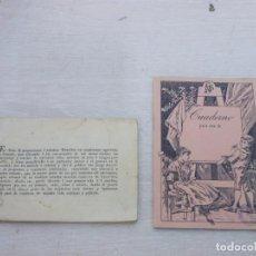 Livres d'occasion: MUY ANTIGUO Y RARO LIBRO DEL JUEGO DE LA SIBILA MAS CUADERNO CON PREGUNTAS ADIVINACION TAROT. Lote 170201032