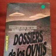 Libros de segunda mano: DOSSIERS DE LOS OVNIS (HENRY DURRANT). Lote 174500364