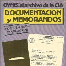 Libros de segunda mano: OVNIS: EL ARCHIVO DE LA CIA: DOCUMENTACIÓN Y MEMORANDOS - ANDREAS FABER KAISER - A.T.E.1980 - GCH. Lote 175852042