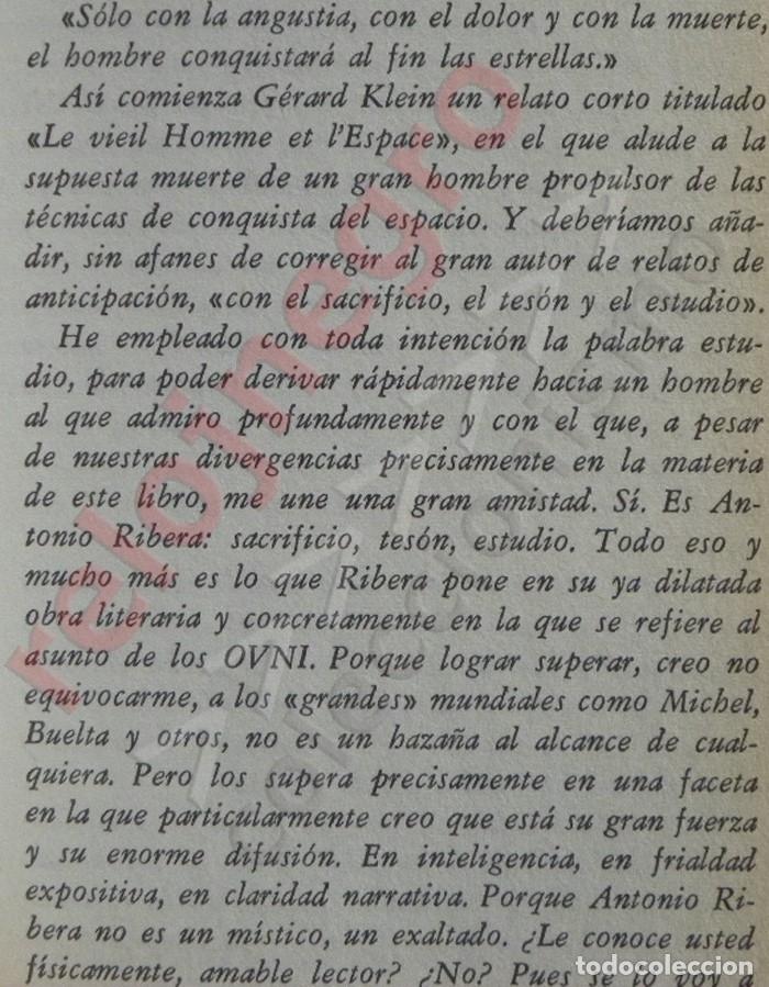 Libros de segunda mano: PROCESO A LOS OVNI - LIBRO ANTONIO RIBERA - OVNIS UFOLOGÍA EXTRATERRESTRES MISTERIO PLATILLOS DOPESA - Foto 4 - 176646883