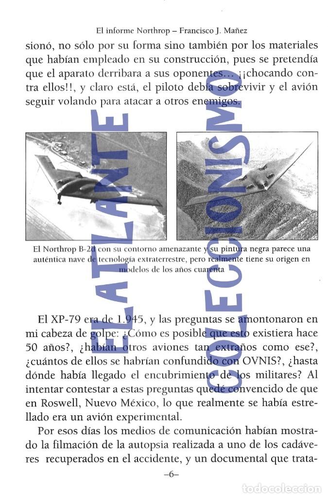 Libros de segunda mano: EL INFORME NORTHROP AERONAVES TERRESTRES TOMADAS POR EXTRATERRESTRES UFOS OVNIS UFOLOGÍA - 30 € - Foto 8 - 206184602