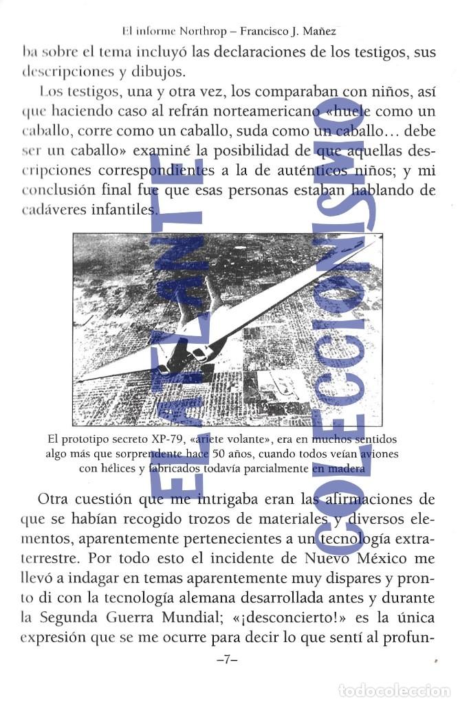 Libros de segunda mano: EL INFORME NORTHROP AERONAVES TERRESTRES TOMADAS POR EXTRATERRESTRES UFOS OVNIS UFOLOGÍA - 30 € - Foto 9 - 206184602