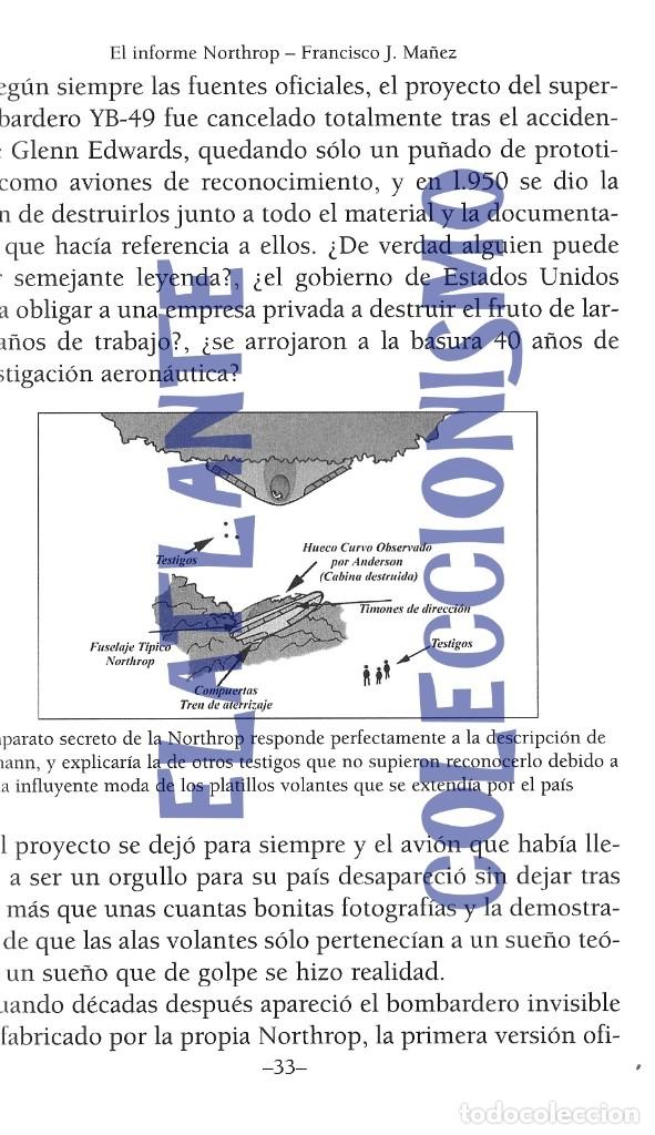 Libros de segunda mano: EL INFORME NORTHROP AERONAVES TERRESTRES TOMADAS POR EXTRATERRESTRES UFOS OVNIS UFOLOGÍA - 30 € - Foto 11 - 206184602